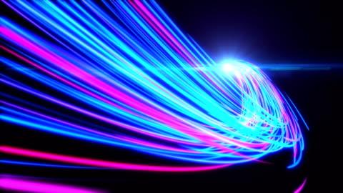 vídeos y material grabado en eventos de stock de luces de alta velocidad rutas de movimiento del túnel - rayo de luz