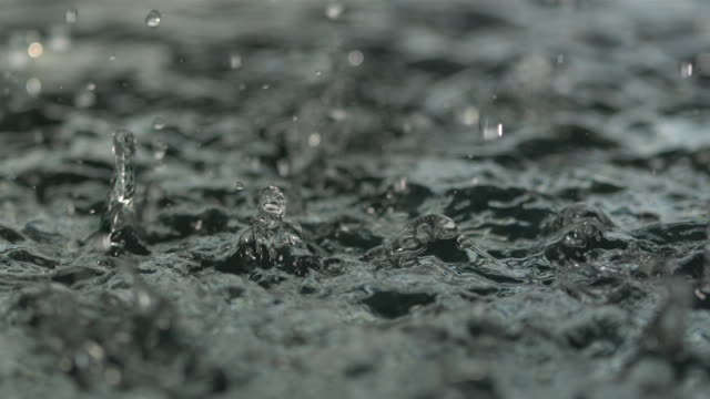 high speed rain falling on water - continuity stock videos and b-roll footage