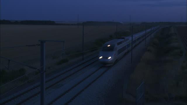 High speed train at dusk - TGV