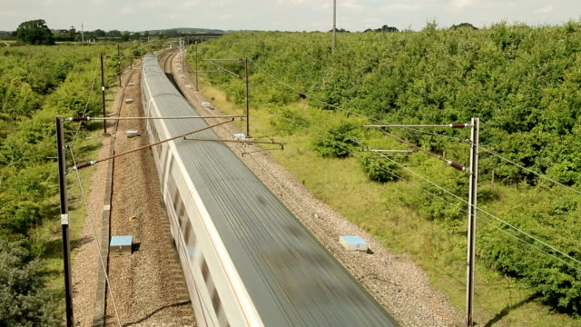 High Speed Train From Overhead