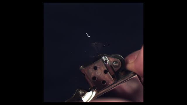 High Speed Zippo Lighter sparking (2000fps, shutter speed 1/2000)