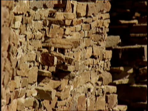 high stone walls remain among the ruins of chaco canyon's penasco blanco. - chaco canyon stock videos & royalty-free footage