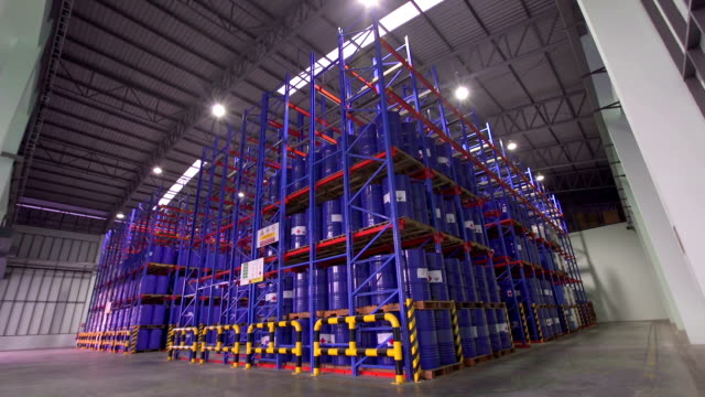 High storage rack warehouse