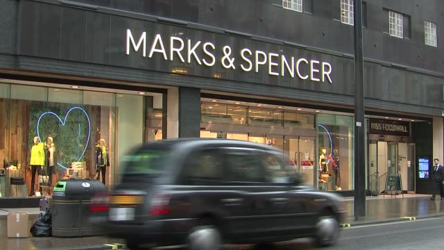 High street and general views of Marks and Spencer store Marks and Spencer store