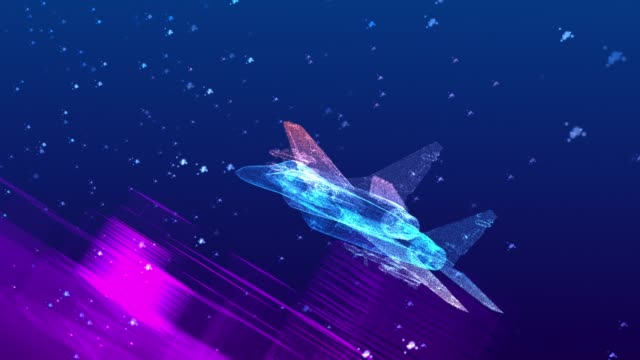 high tech fighter jet fly on the city (loopable) - missile stock videos & royalty-free footage