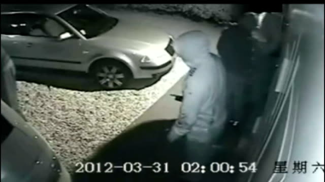 high tech security loophole leads to theft of bmw cars sutton coldfield cctv footage of thieves stealing car from driveway - thief stock videos & royalty-free footage