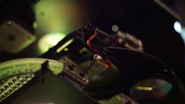 High technology glowing macro detail