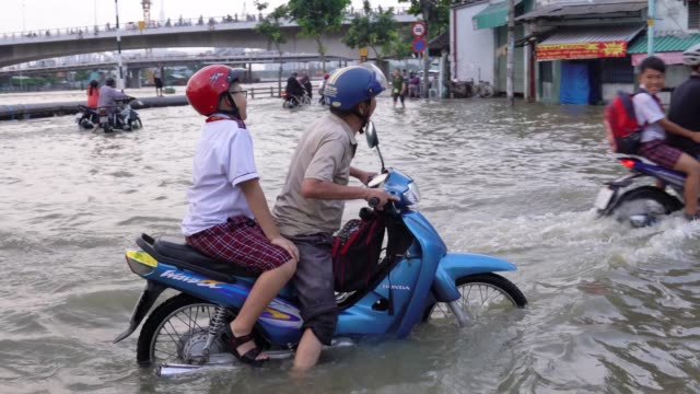 high tide in ho chi minh city. - destruction stock videos & royalty-free footage