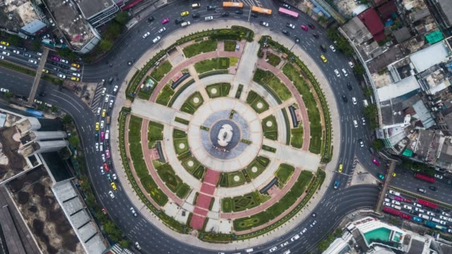 high up traffic timelapse - roundabout stock videos & royalty-free footage