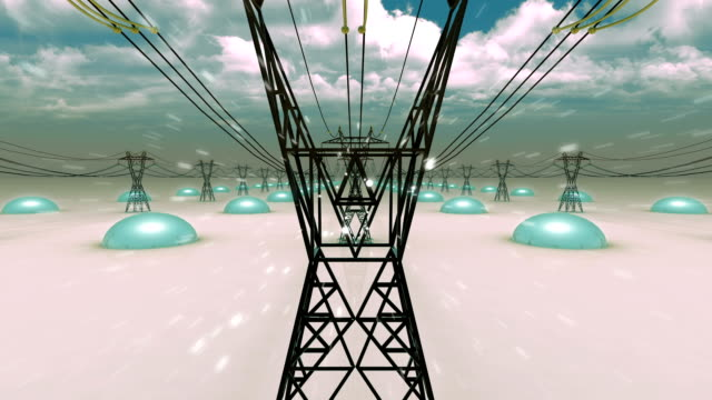 stockvideo's en b-roll-footage met high voltage - energy rain (loopable) - bord hoogspanning