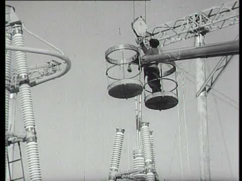 stockvideo's en b-roll-footage met high voltage switching station of chernobyl nuclear power plant - kernramp van tsjernobyl