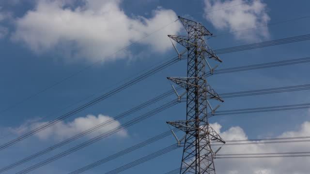 vídeos y material grabado en eventos de stock de torre de alta tensión - alto descripción física