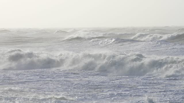 high winds hit the south of england, as storm force winds hit parts of the uk, brings large waves and choppy seas on march 11, 2021 in brighton, uk. - sea stock videos & royalty-free footage