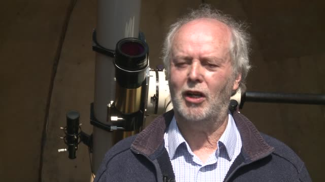 high wycombe photographer builds observatory in back garden ext tyler interview sot - バッキンガムシャー点の映像素材/bロール