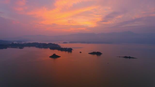 high-altitude aerial qingshitan lake - cumulonimbus stock videos & royalty-free footage