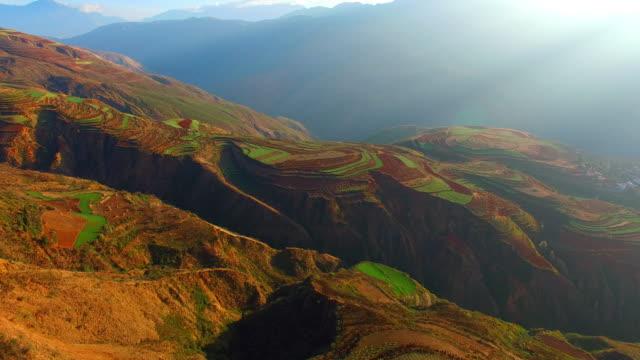 High-altitude aerial Rice paddy,Yunnan,China