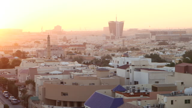 high-ange views of riyadh as the sun is beginning to set. - cityscape stock videos & royalty-free footage