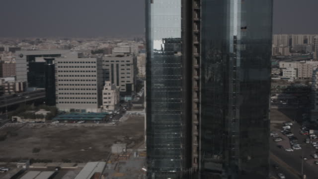 high-angle pan-right view of jeddah. - jiddah stock videos & royalty-free footage