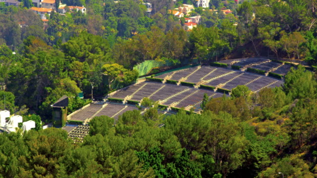 High-angle view of Hollywood Bowl ampihtheater
