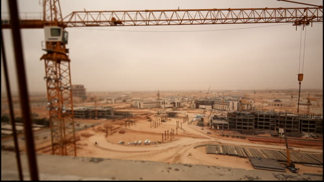 high-angle view of the king saud bin abdul aziz university campus in its final stages of construction. it is the first health sciences university in... - jiddah stock videos & royalty-free footage