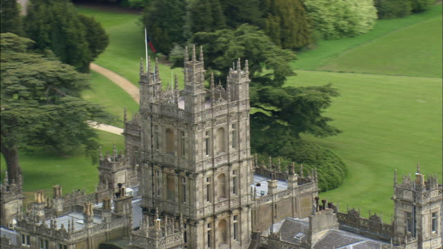 highclere castle - hampshire england stock videos & royalty-free footage
