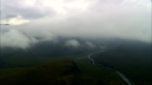highlands around killilan forest  - aerial view - scotland, highland, united kingdom - scottish highlands stock videos and b-roll footage