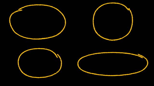 ハイライト円 + α - チョーク点の映像素材/bロール