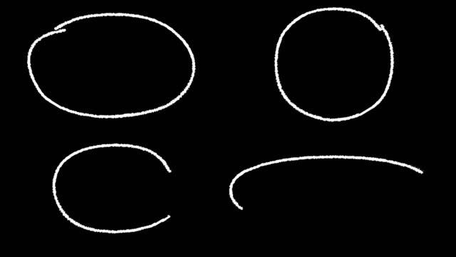 ハイライト円 - チョーク点の映像素材/bロール