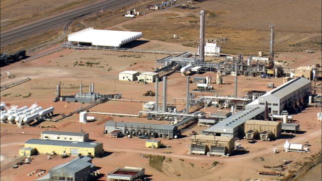 Markieren Sie Gas Pflanze-Luftaufnahme-Wyoming, Campbell County, USA