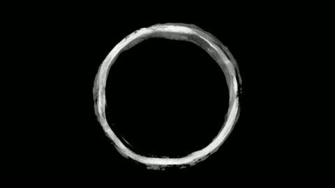 vídeos de stock e filmes b-roll de highlight round marking text ink brush circle stock video - circle