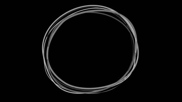 vídeos de stock e filmes b-roll de highlight round marking text ink brush circle stock video - reflexo cabelo pintado