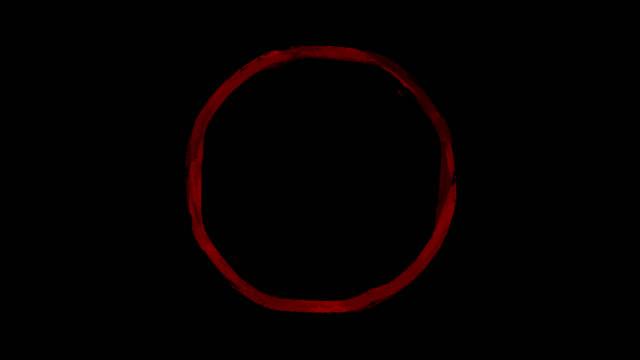 テキストインクブラシサークル透明なストックビデオをマークする丸いマークを強調表示 - はけ筋点の映像素材/bロール