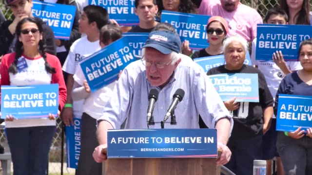 highlights from bernie sanders' speech in east los angeles and interviews with millennialage supporters rosario dawson speaks and says to vote purple... - jesús garcía politician stock videos and b-roll footage
