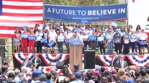 highlights from bernie sanders' speech in east los angeles and interviews with millennial-age supporters. rosario dawson speaks and says to vote... - 2016 stock videos & royalty-free footage