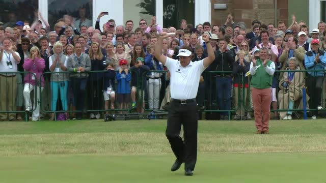 highlights from day 4 of the 142nd open championship at muirfield on july 20 2013 in gullane scotland for full script contact your local sales agent... - 2013 stock-videos und b-roll-filmmaterial