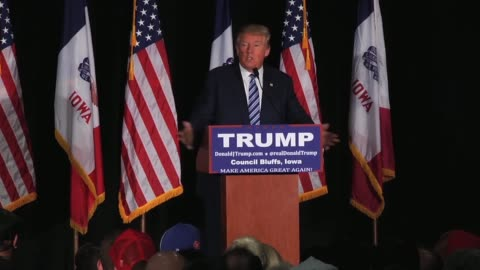 highlights from donald trump's hour-long speech yesterday in council bluffs, iowa. - 2016 stock videos & royalty-free footage