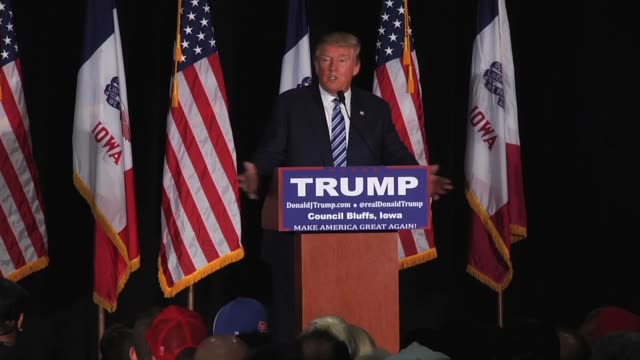 Highlights from Donald Trump's hourlong speech yesterday in Council Bluffs Iowa