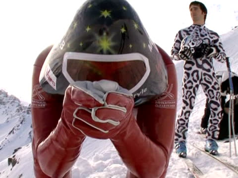 highlights from the world speed-skiing championships in the french alps. - championships stock videos & royalty-free footage