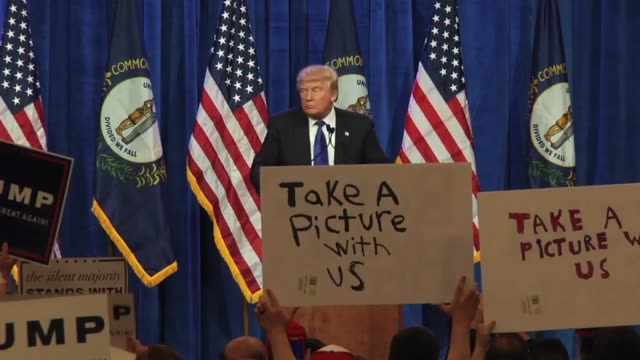 highlights from trump's rally before super tuesday primary elections were held at the international convention center in downtown louisville ky... - presidential candidate stock videos & royalty-free footage