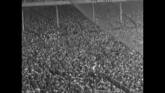 Highlights of Game 2 of the 1938 World Series New York Yankees v Chicago Cubs at Chicago's Wrigley Field begins / Cubs' Jay 'Dizzy' Dean pitching...
