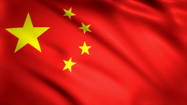 highly detailed chinese flag background 4k - politics abstract stock videos & royalty-free footage