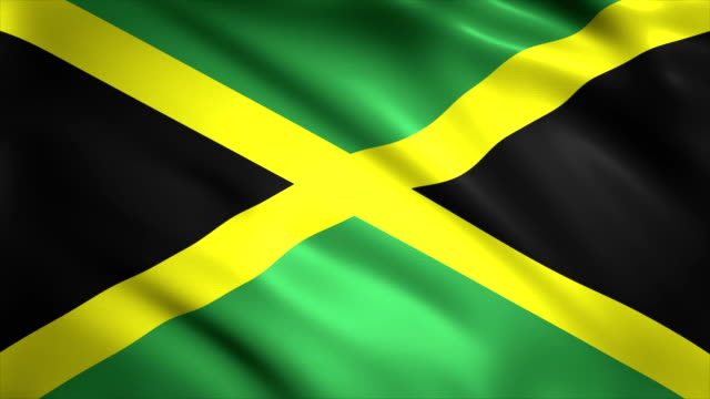 highly detailed flag of jamaica, background 4k - politics abstract stock videos & royalty-free footage