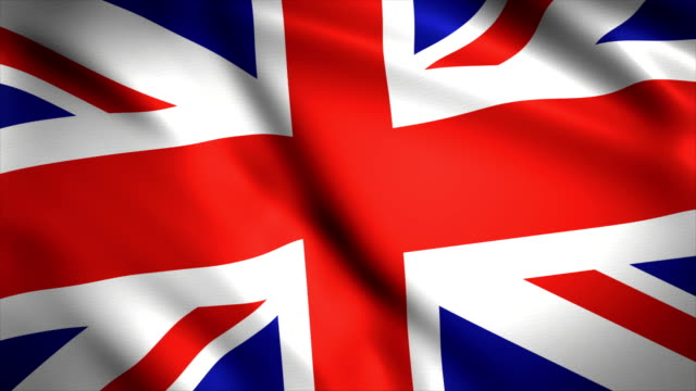 highly detailed united kingdom flag background 4k - identity politics stock videos & royalty-free footage