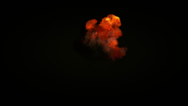 highly realistic fire explosions with smoke and alpha matte to compose. 3d rendering. 4k, ultra hd resolution. - fireball stock videos & royalty-free footage