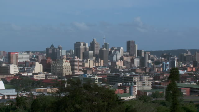es high-rise buildings in durban city skyline / durban, kwa zulu natal, south africa - durban stock videos and b-roll footage