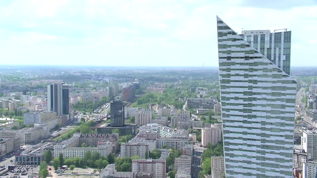 high-rise buildings in warsaw - intercontinental hotels group stock videos & royalty-free footage