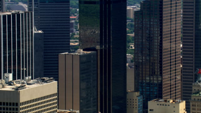 high-rise to mid-rise buildings in dallas, texas. shot in 2007. - 2007 stock videos & royalty-free footage