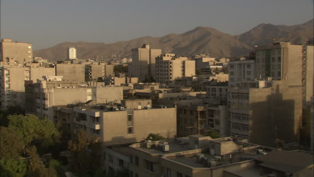 high-rises undergo construction in tehran. - iran stock videos and b-roll footage