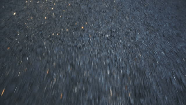 high-speed car pov of a highway asphalt - blurred motion stock videos & royalty-free footage