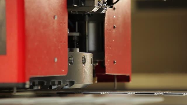 high-speed sheet metal punching press - sheet metal stock videos and b-roll footage